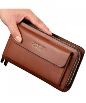 Business Clutch capacity Leather Wallet