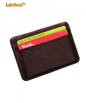 Lantusi Leather Wallet Credit Folded