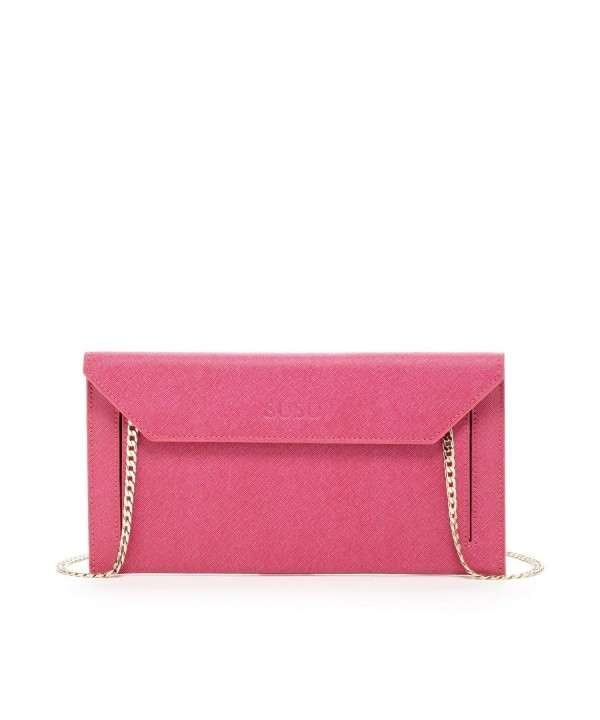 Envelope Saffiano Clutches Designer Handbags