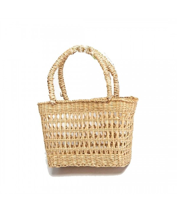Straw Weave Shopping Basket Medium