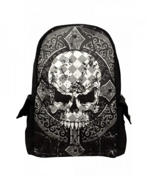 Banned Skull Cross Backpack Black
