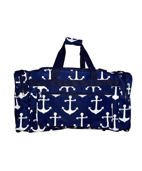 Fashion Print Travel Duffle NavyAnchor