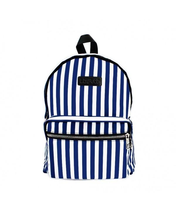 LDJRCP Capacity Striped Backpack backpack
