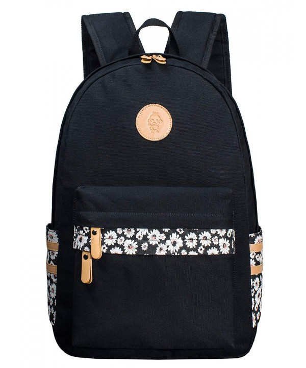 Backpack Floral Canvas Rucksack Knapsack