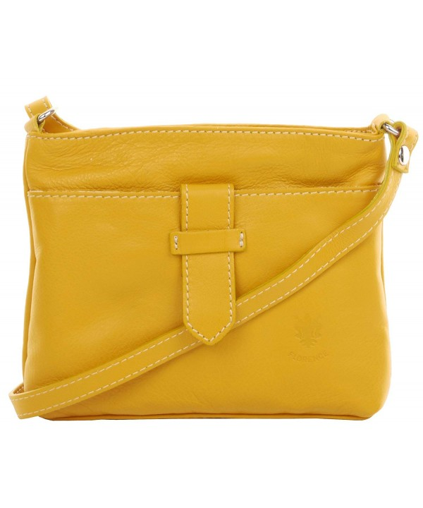 c69f3686076a ... Soft Leather Hand Made Small Adjustable Strap Cross Body Shoulder Bag  Handbag - Yellow - CL18G9Z73EY. On sale! New. Primo Sacchi Italian  Adjustable ...