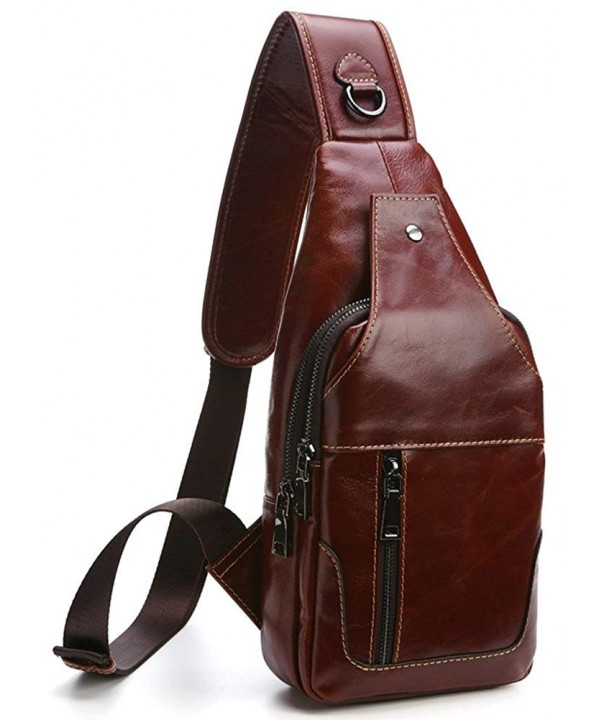 Everdoss Backpack Genuine Leather Traveling