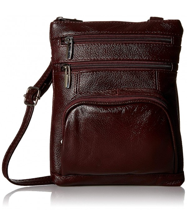 Roma Leather Genuine Organizer Crossbody