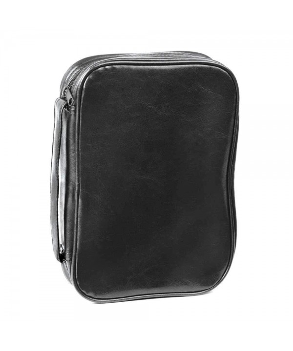 Black Leatherette Bible Cover Handle