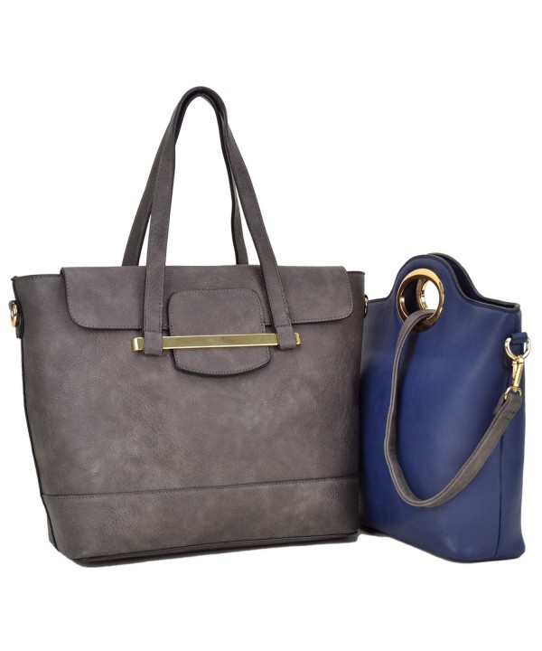 Leather Pieces Handbag Shoulder Satchel