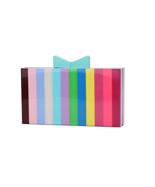 Runhetian Acrylic Clutch Striped Desiger