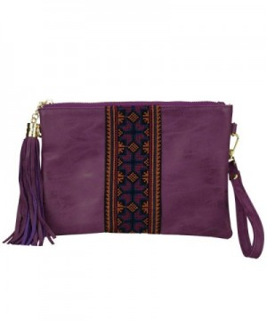 Embroidered Crossbody Wristlet Vintage Handbag Sibalasi