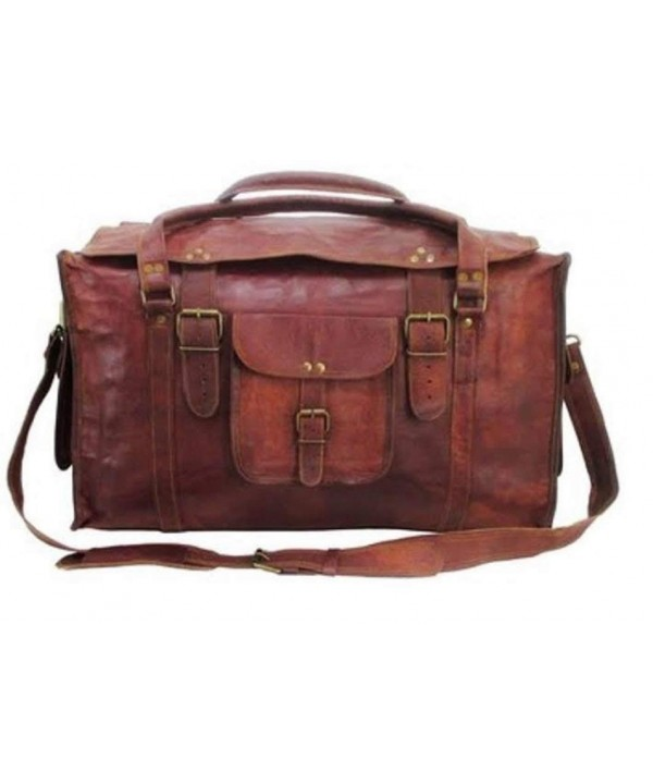 Retro Style Luggage Duffel Leather
