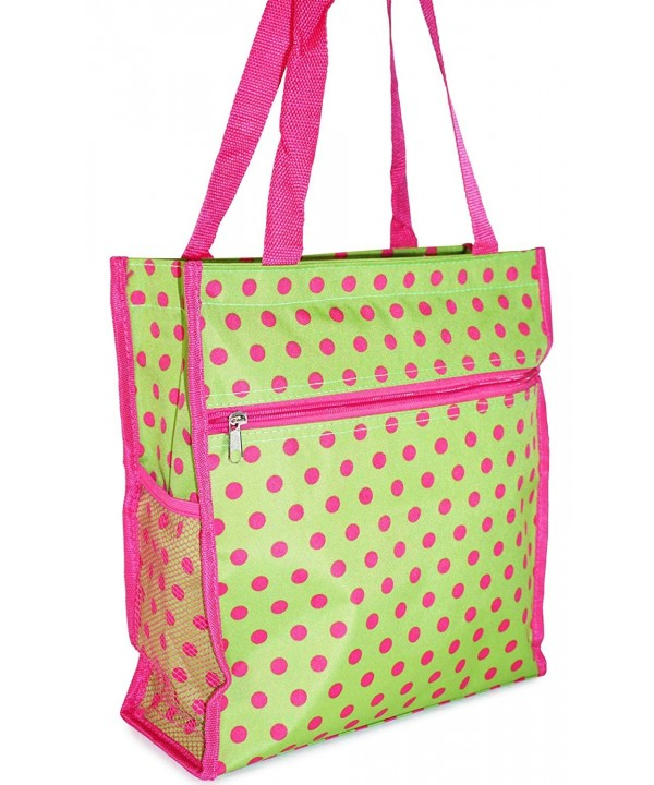 Polka Dot Tote Bag Green