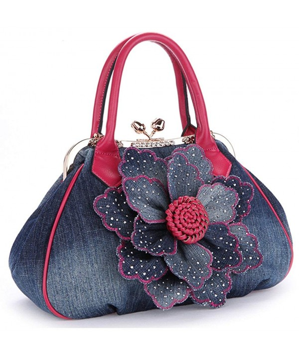 Handbag Shoulder Shopper Messenger Rose red
