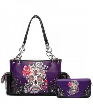 Flower Concealed Handbag Shoulder Wallet