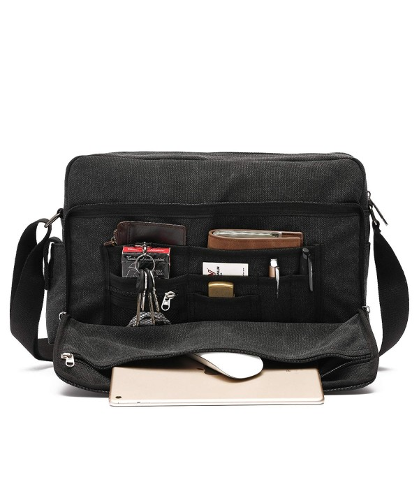 Mlife Multi Pockets Canvas Messenger Shoulder
