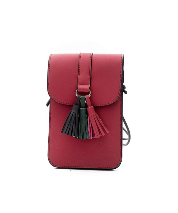 ZOONAI Tassel Crossbody Shoulder Wallet