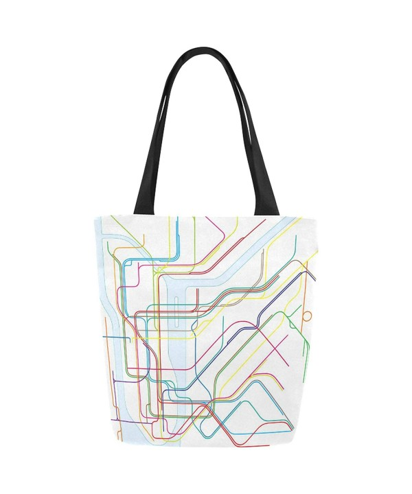 InterestPrint Subway Canvas Shoulder Handbag