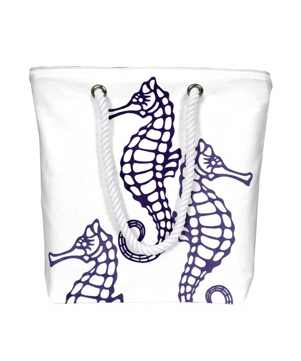 Peach Couture Nautical Seahorse Handbags