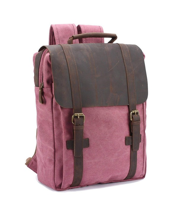CLELO Leather Backpack Rucksack Computer