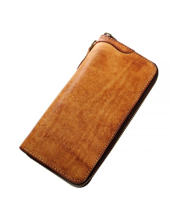 Geremen Mens Cowhide Long Wallet