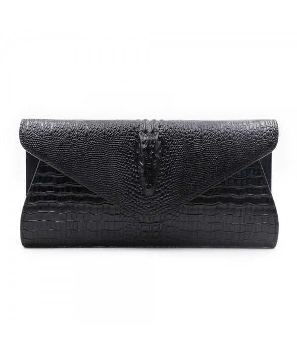 GeniuR Handbags Crocodile Clutches Shoulder