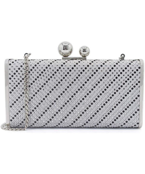 Womens Evening Clutch Hardcase Rhinestuds