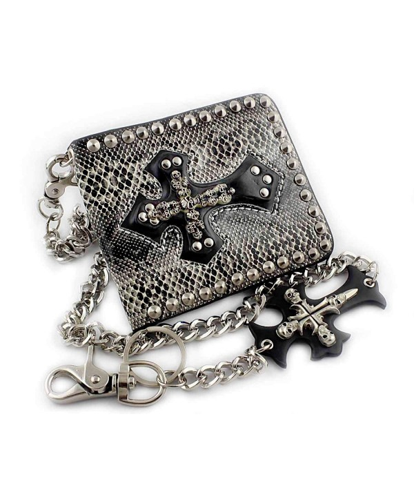 Studded Gothic Rocker Leather Wallet
