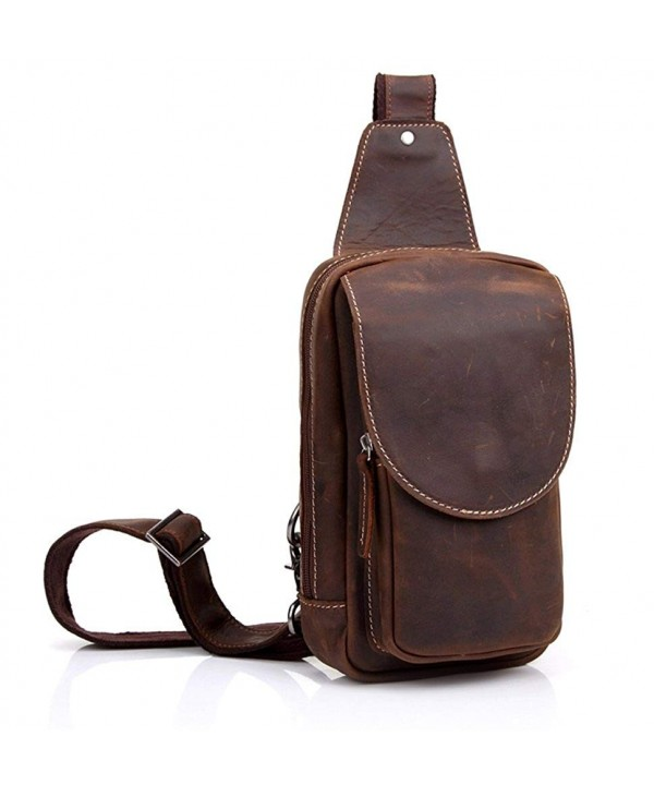 Everdoss Genuine Leather CrossBody Backpack