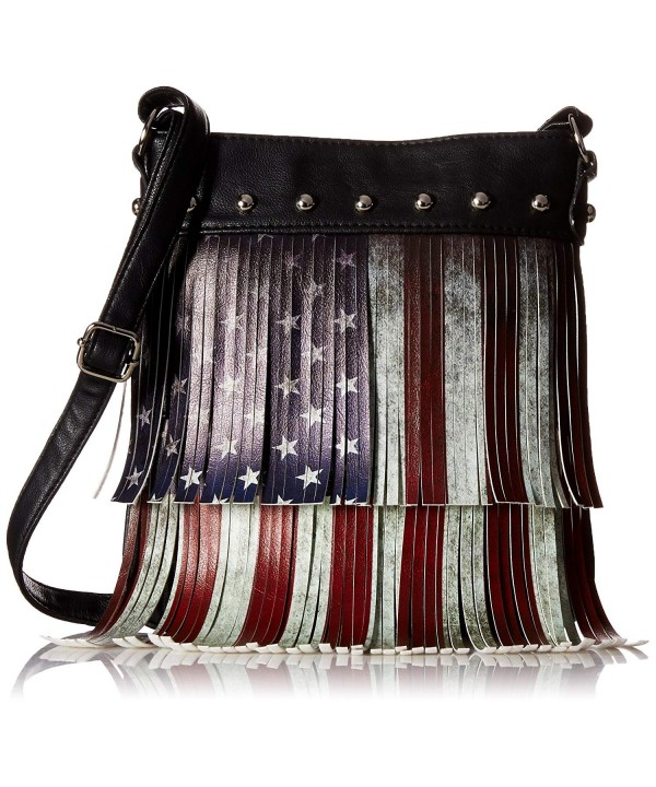 Distressed Vintage Layered American Crossbody