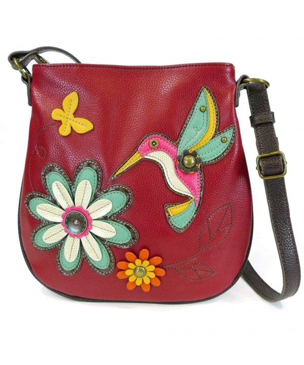 Deluxe Crossbody Hummingbird Burgundy 10 5 10 75