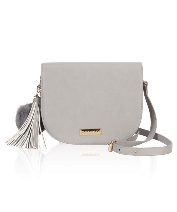 Zipper Saddle Crossbody Shoulder Tassel
