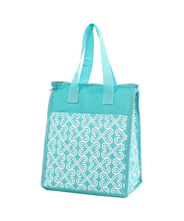 Fashion Print Lunch Twist Turquoise