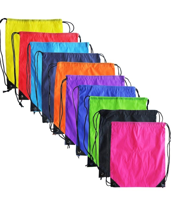 Drawstring Backpack Storage Polyester Traveling