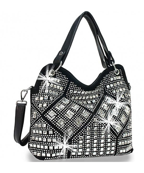 Zzfab Geometric Sparkle Purse Black