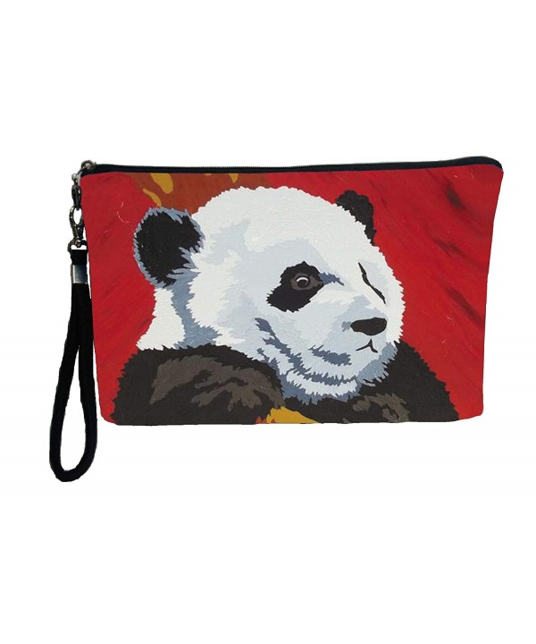 Panda Large Wristlet Pencil Cosmetic