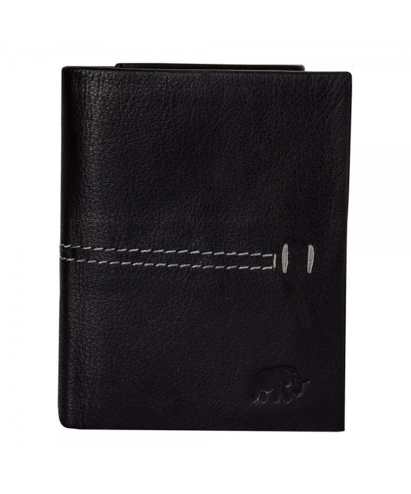BENITO Trifold Wallet Black Leather