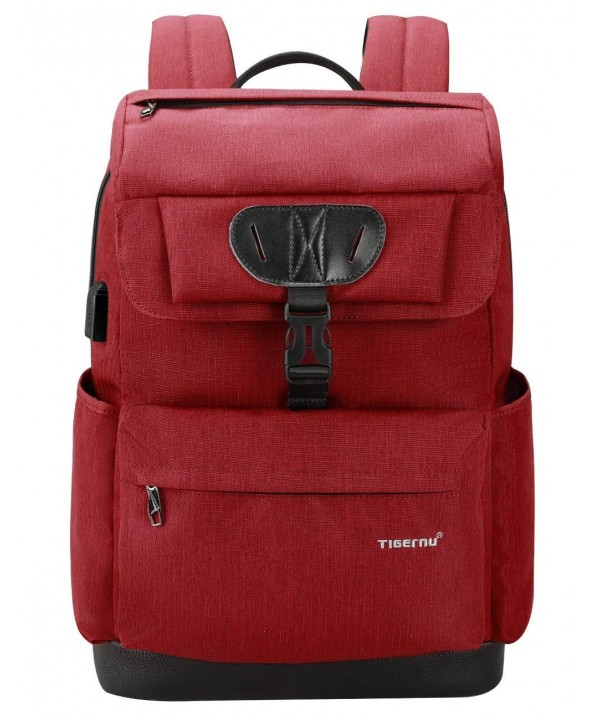 Backpack Charging Anti Theft Resistant Red