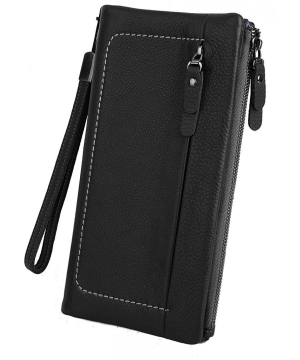 YALUXE Capacity Wristlet Checkbook Passport