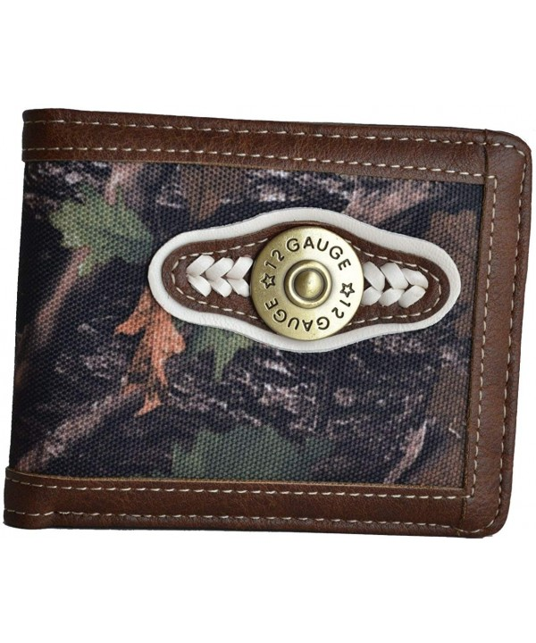 Canvas Shotguns Hunting Leather Wallet