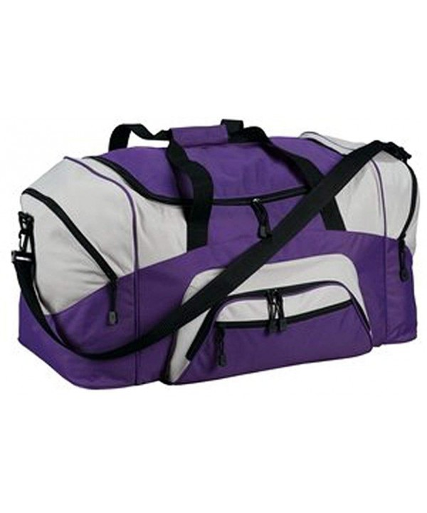 Upscale Polyester Sport Duffel Compartments