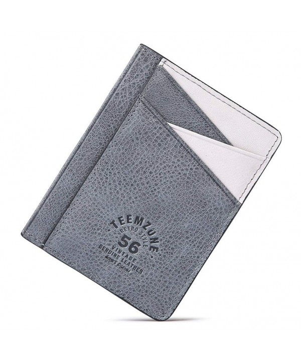 Teemzone Minimalist Wallet Genuine Leather