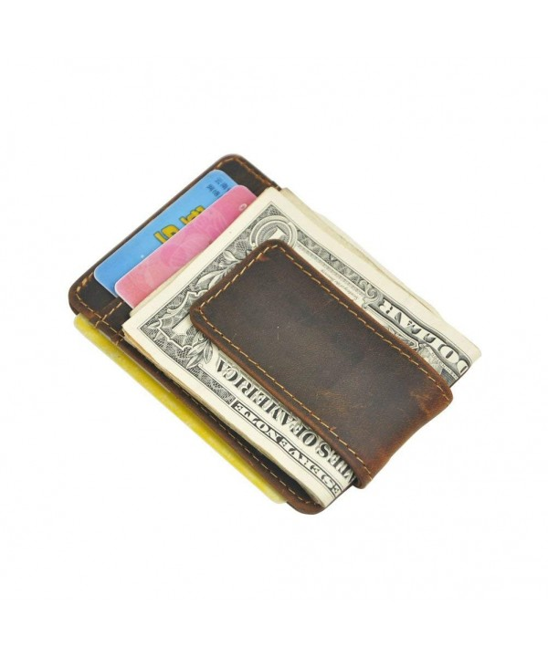 Boshiho Leather Window Pocket Wallet