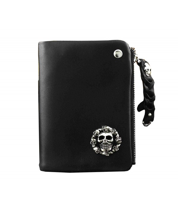 Leather Fashion Skull Wallet Holder
