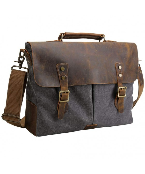 Tiding Leather Messenger Briefcase Shoulder