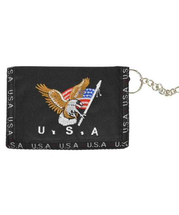 Eagle Nylon Trifold Chain Wallet