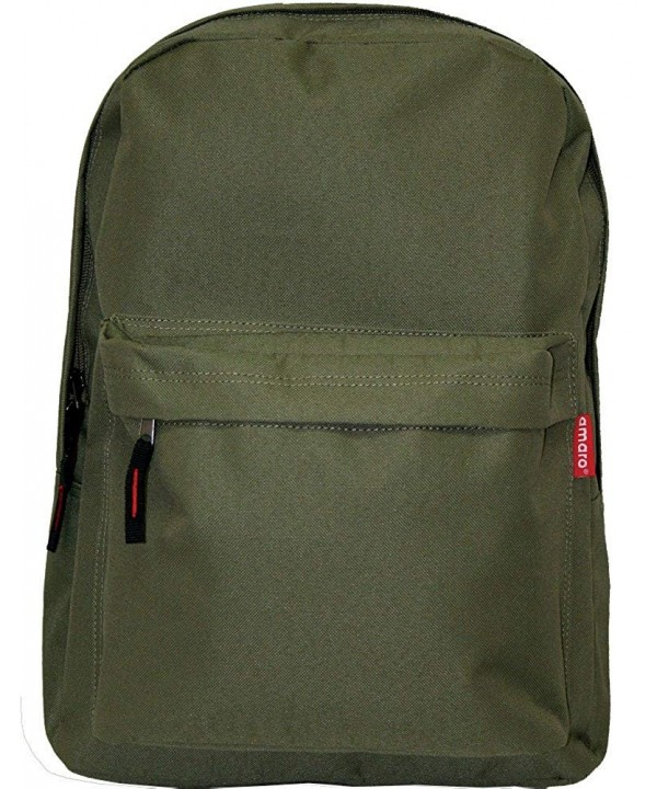 Amaro Basic Backpack Zipper Pocket