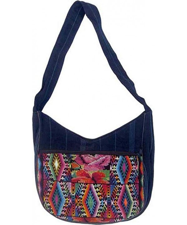 Chichi Weave Denim Shoulder Bag