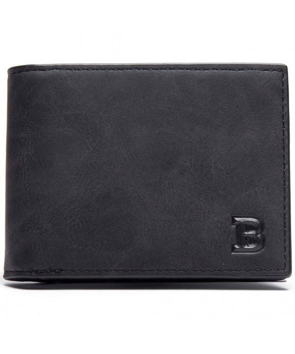 Schumarson Leather Bifold Wallet Minimalist