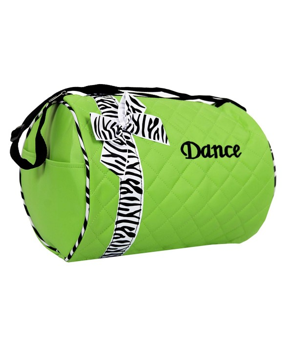 Dance bag Quilted Zebra Duffle